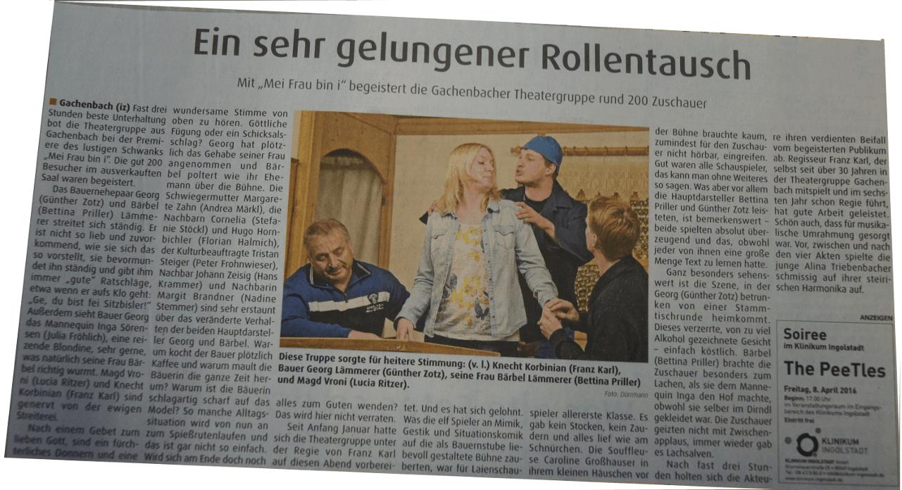Zeitungsartikel Schrobenhausen